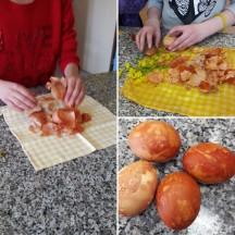 Ostereier färben 1
