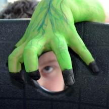 Handpuppen aus Wasserfarben