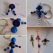 Perlen-Schlüsselanhänger