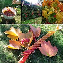 Blätter & Beeren in Wachs
